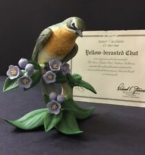 "Beautiful Vintage LENOX ""Yellow Breasted Chat"" Porcelain Bird Figurine - MINT"