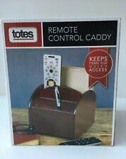 Totes Remote Control Caddy Organizer 360-Degree Swivel Base Rosewood Color NIB