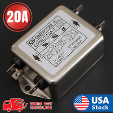 Single Phase AC Power Line EMI Filter AC 115/250V 50/60Hz 20A Suppressor