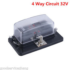 New 4 Way Circuit 32V DC Blade Fuse Box Block Holder for Auto Car Boat Vehicle