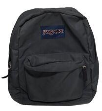 JanSport Student Backpack Book Bag Gray/Black Classic Multi Pocket Compartment