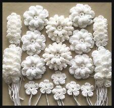 NEW MIXES HANDMADE CROCHET FLOWERS WHITE