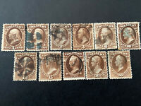 Us Stamp Scott #O72-O82..USED COMPLETE SET TREASURY DEPT SCV $220.00-Read Below