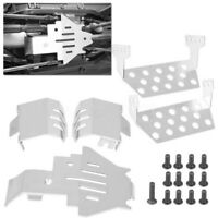 5* Stainless Steel Chassis Armor Protection Skid Plate for Traxxas TRX-4 RC Car
