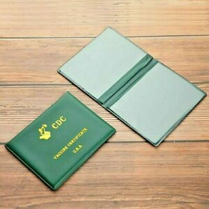 NEW; GREEN VACCINE SOLID CARD HOLDER. EXTREMELY USEFUL.