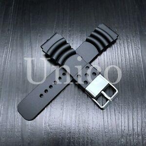 Citizen 22mm Watch Band Eco-Drive Aqualand Promaster Black Rubber Strap Sport