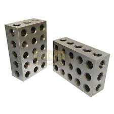 NEW One Pair 1 2 3 Precision Blocks 23 Holes Set of 2 PCS FREE SHIPPING
