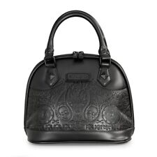 Loungefly Matte Black Bandana Sugar Skull Studded Dome Bag