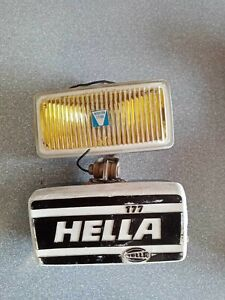 Pair VINTAGE HELLA YELLOW FOG LIGHT 177