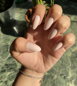 Almond Press On Nails Baby Pink Long Pointy Cat Nails Set Of 24