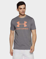 Under Armour Sportstyle Logo Charged Cotton Sizes M & L Gray 1257615-041 T-Shirt