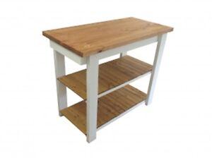 Ranch Kitchen Island Work Space / Kitchen Storage / Bakers Table / Work Station