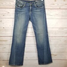 Chip & Pepper Boot Cut Jeans Size 29 x 34 Distressed Womens Blue No Stretch