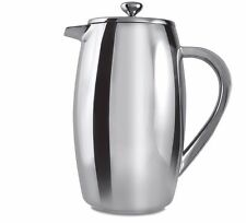 Grunwerg 8 Cup Bellied Double Wall Cafetiere Stainless Steel Plunger Coffee