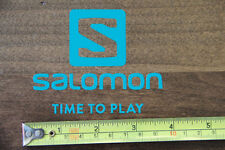 SALOMON Skis Snowboard STICKER Decal DIE CUT Teal NEW Time To Play