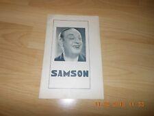 FILMPROGRAMM SAMSON  HARRY BAUR GABY MORLAY