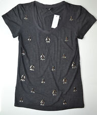 NWT Ann Taylor Crystal Embellished Dress Tee Shirt Size XS
