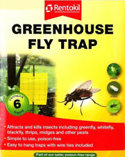 6 x Rentokil Greenhouse Fly Traps Attracts Kills Greenfly Whitefly Blackfly New