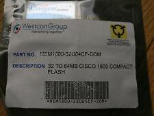 More details for new - mem1800-32u64cf 64mb compactflash card for cisco 1800 routers