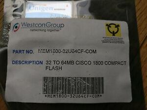 NEW - MEM1800-32U64CF 64MB CompactFlash Card for Cisco 1800 routers