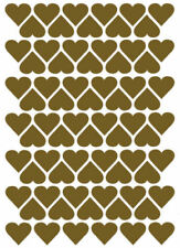 Gold Heart Scrapbooking Stickers