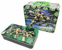 Nickelodeon Teenage Mutant Ninja Turtles TMNT Metal Embossed 3D Lunch Box Tin