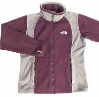 The North Face Women's Size Medium Fleece Jacket Full Zip Maroon/Gray EUC