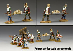 KING & COUNTRY MEDIEVAL KNIGHTS & SARACENS MK132 BALLISTA ROCK CARRIERS MIB