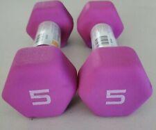 NEW CAP 2X Neoprene Hex Dumbbell 5 Lb - 10lbs total - FAST SHIPPING