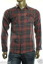 New Mens Ezekiel All We Have Is Now Button Front Long Sleeve Plaid Shirt S