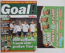 Fußball WM 2010 Leeralbum mit Leerposter Ferrero TOP Duplo Hanuta Kinderriegel