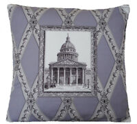 "Manuel Canovas Cushion Cover Fabric Lutece Parisian Architectural Toile 16"" 18"""