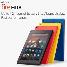 """All-New Fire HD 8 Tablet Alexa 8"""" HD Kindle 16GB 1.3GHz Quad-core Wi-Fi Black"""