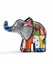 Romero Britto Mini/ Miniature 3D Figurine- Elephant With Long Trunk