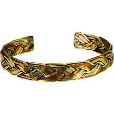 Tibetan 3 Metal Copper Brass Silver Twist Braid Adjustable Bracelet Mens Jewelry