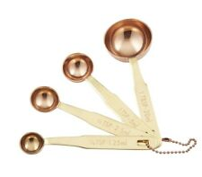 NEW Stephanie Alexander Copper Measuring Spoons Set of 4