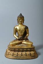 T505: XF Chinese Copper BUDDHIST STATUE sculpture Ornament Buddhist art