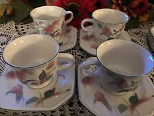 Mikasa Continental Silk lot 4 cups and saucers