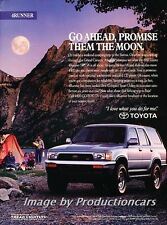 1992 Toyota 4Runner - Original Advertisement Print Art Car Ad J754