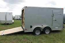 6X12 Enclosed Trailer Cargo Tandem V Nose Utility Motorcycle 14 10 Lawn 2018