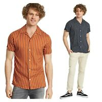 Jack & Jones Mens Casual Classic Collar Striped Short Sleeved Regular Fit Shirts