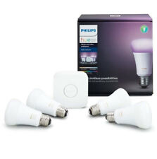 Phillips Hue White and Color Ambiance A19 60W LED Smart Bulb Starter Kit (3 Bulb