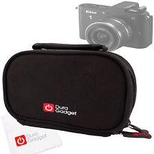 Black Lightweight Carry Case for Olympus TG-620 / TG-835, OM-D EM-5 & Nikon 1 V1
