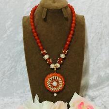 Bollywood Indian Fashion Jewellery Set Ethnic  Pearl Pachi Moti Thewa Necklace