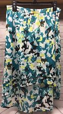 Cato Women's Asymmetrical Skirt Side Zip Multi-Color Lined Size 6 NEW