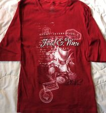 Walt Disney World Disneyland Epcot Food & Wine Festival Women's XXL Park Shirt