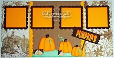 Craftecafe Premade Scrapbook Page Paper Piecing Fall Pumpkin Patch BLJgraves 22