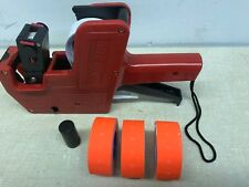 Mx-5500 8 Digits Price Tag Gun Labeler 3 red color rolls 3x1200 labels & 1 inker