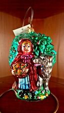 "Christopher Radko ""Little Red Riding Hood""Wolf ornament heirloom #99-130-0 Rare"