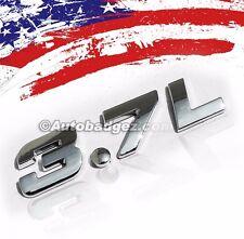 1 - NEW INFINITY G60 G37 G37S 3.7L Chrome Badge Emblem Rear Side  3.7L BADGE